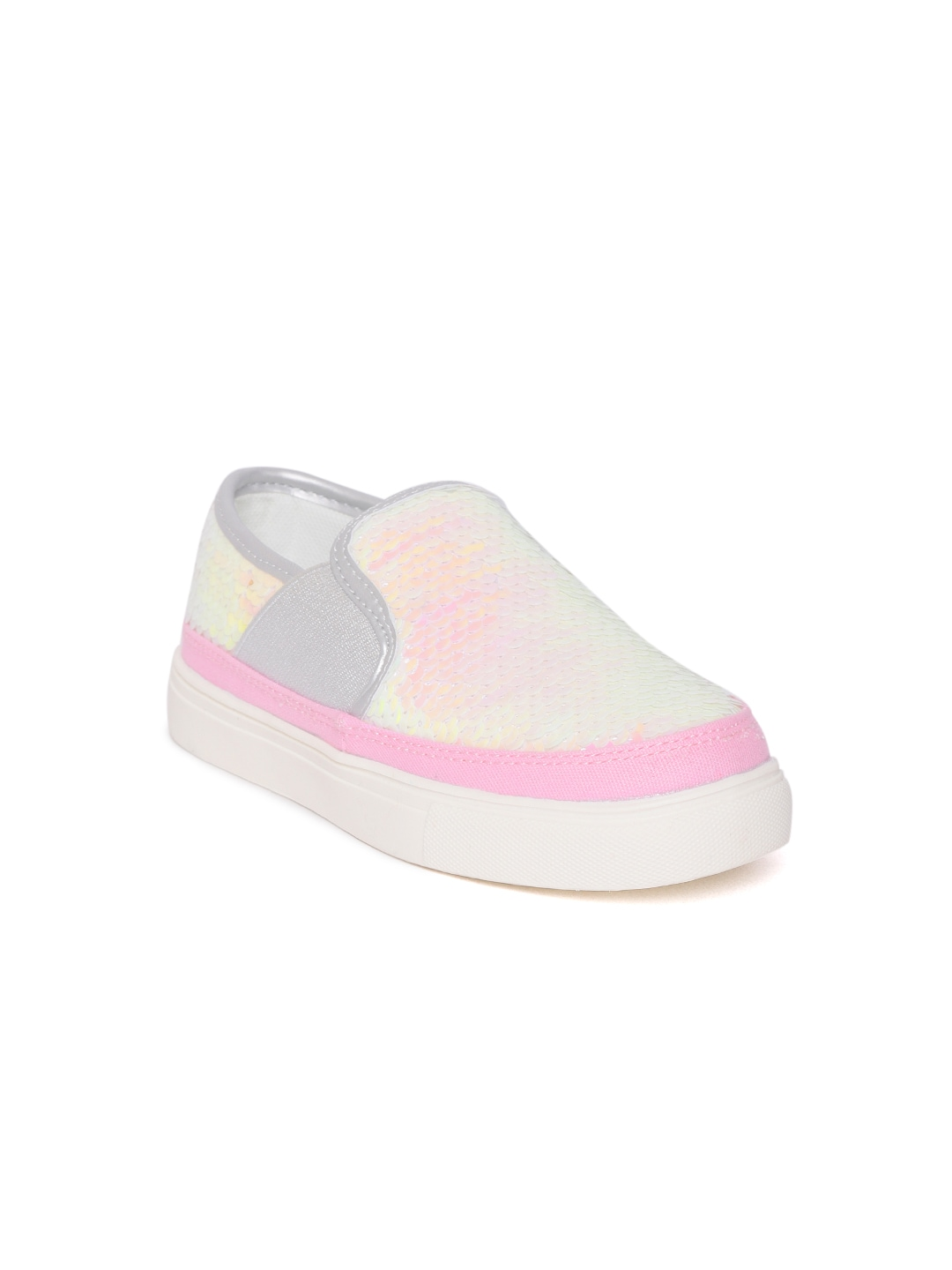 a78ce09cfa United Colors of Benetton Girls Pink Sequinned Slip-On Sneakers