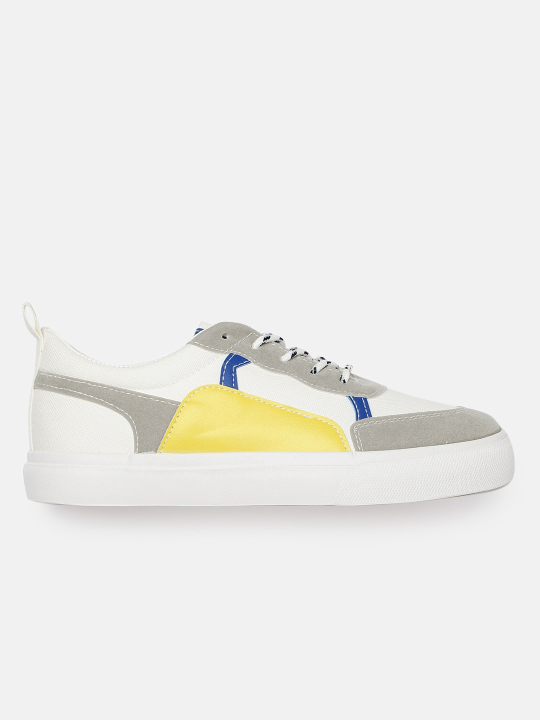 Kook N Keech Women Off-White Colourblocked Sneakers