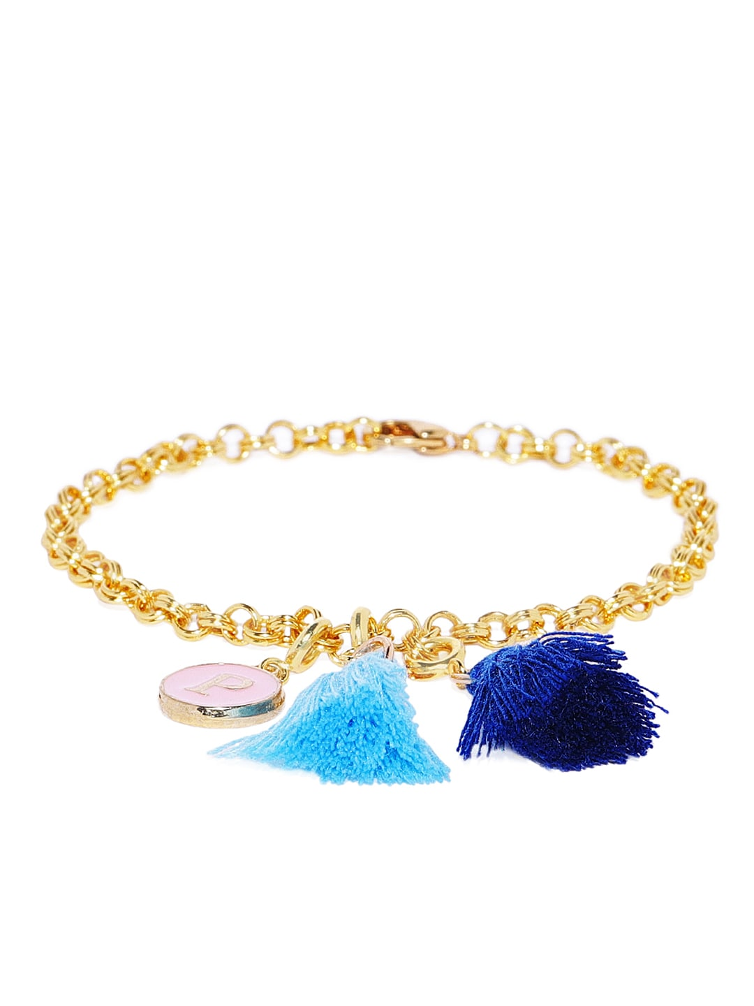Tipsyfly Gold-Toned Alloy Gold-Plated Charm Bracelet