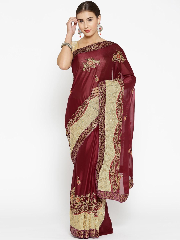 ff5a7087c8 Maroon Lehenga Choli Sarees - Buy Maroon Lehenga Choli Sarees online in  India