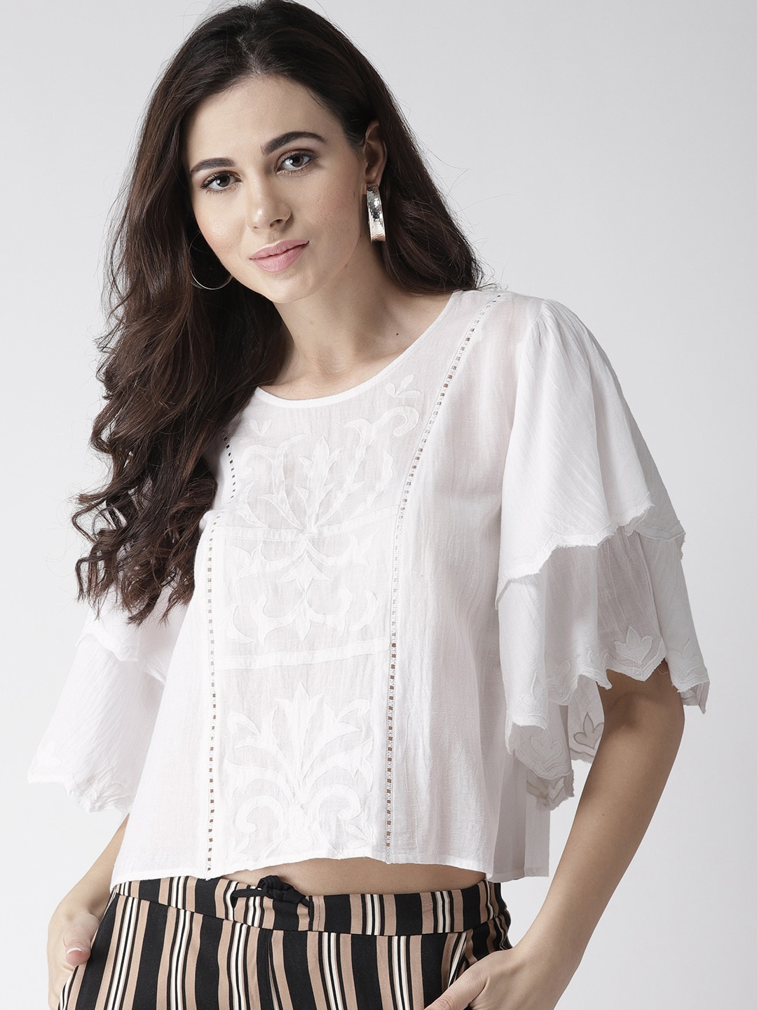 fbe784540 Lace Tops - Buy Lace Tops for Women   Girls Online in India