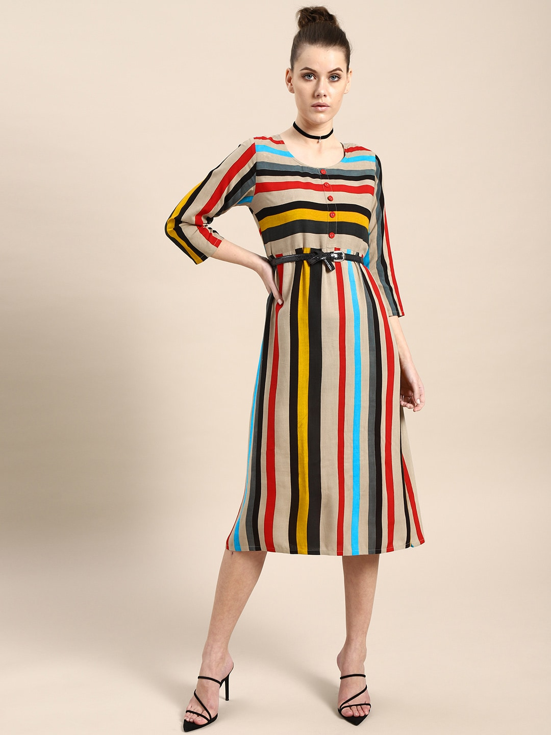 62a26ad840 Striped Dresses - Buy Striped Dresses online in India