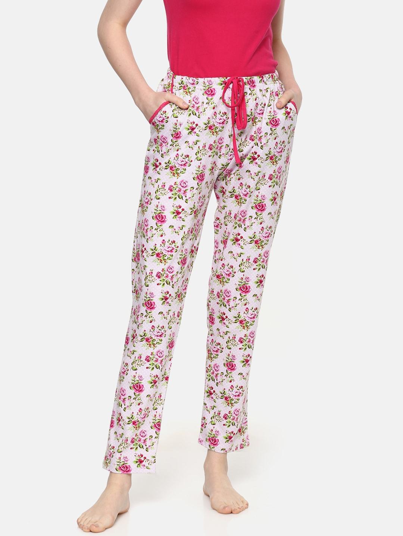 4bfc3abda34 Kanvin Women Pink & White Printed Pyjamas MJKSS192N