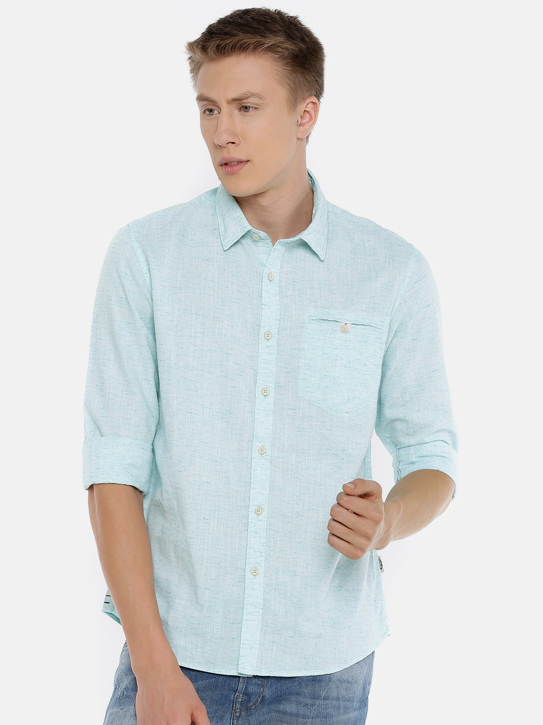 60093e2c0ae Olive Green Shirts - Buy Olive Green Shirts online in India