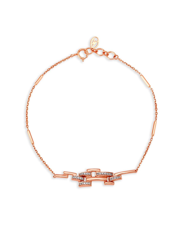 b2ed7fcea4c0c Mia by Tanishq 14kt Rose Gold Diamond Bracelet