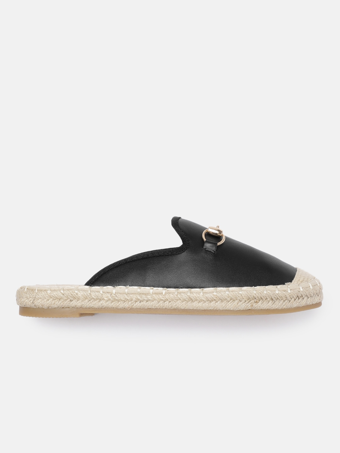 all about you Women Black Solid Mules