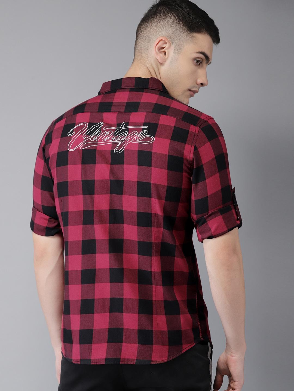52a04e17bb1 Men Check Shirts - Buy Men Check Shirts online in India
