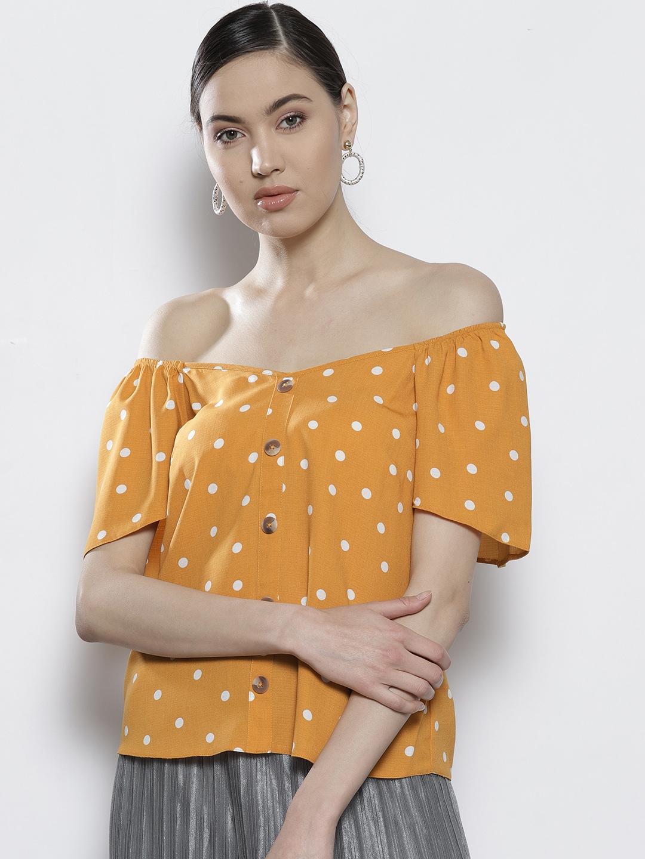 3290f78408353 Women Polka Dot Tops - Buy Women Polka Dot Tops online in India