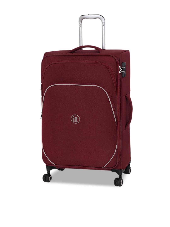 IT Luggage Unisex Maroon Soft-Sided Medium Trolley Bag
