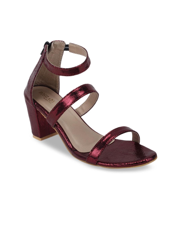 08a6ed6594c Maroon Heels - Buy Maroon Heels Online in India