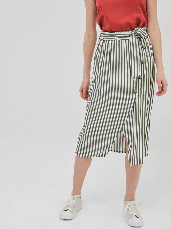 19ba4ddc95 Mint Green Pleated Midi Skirt