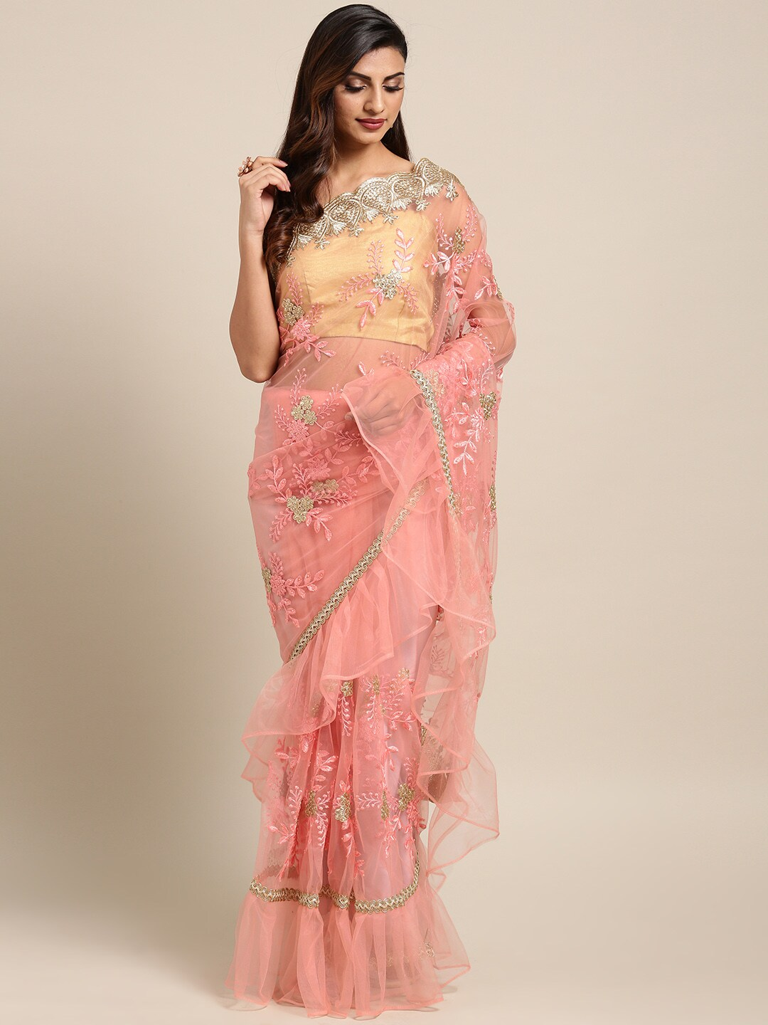 d47aaa1be Net Sarees - Buy Stylish Net Saree in India Online - Myntra