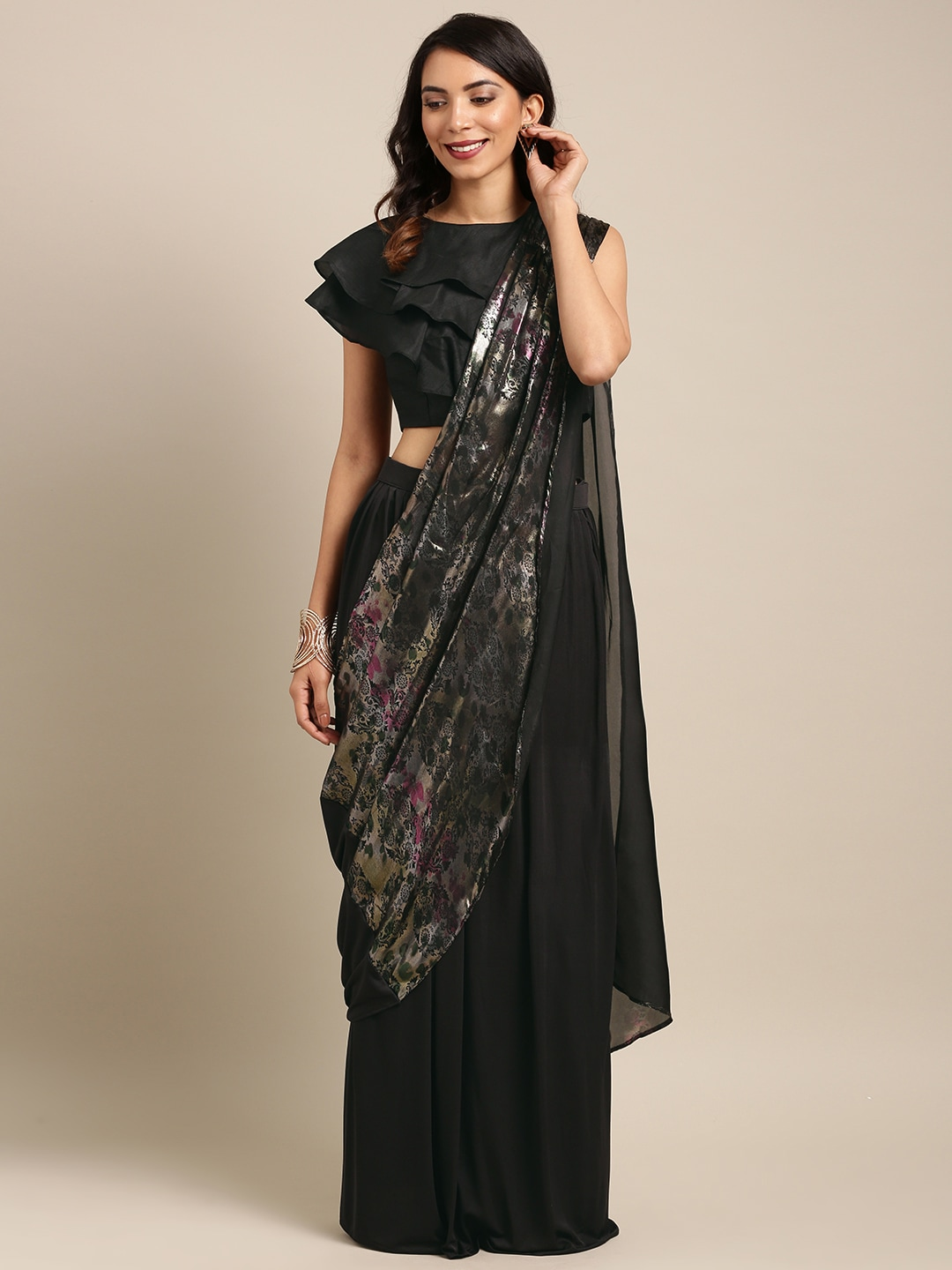 b8d1d807770 Black Saree - Black Designer Sarees Online   Best Price