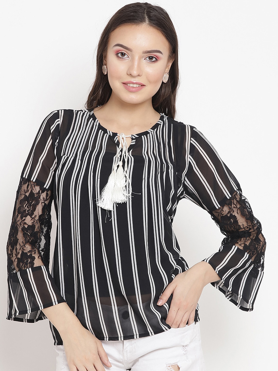 33820bc8182 Women Striped Tops - Buy Women Striped Tops online in India