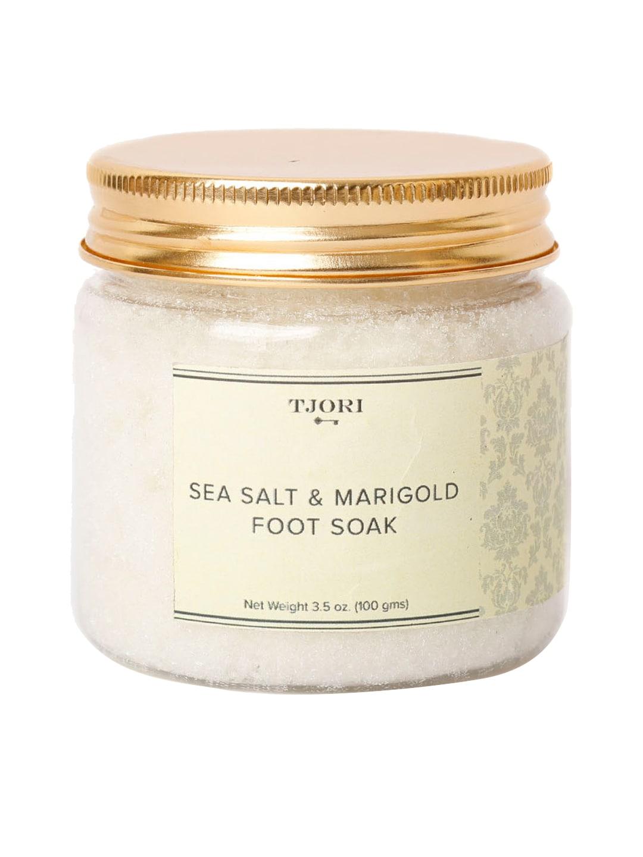 TJORI Unisex Sea Salt And Marigold Foot Soak 100gm