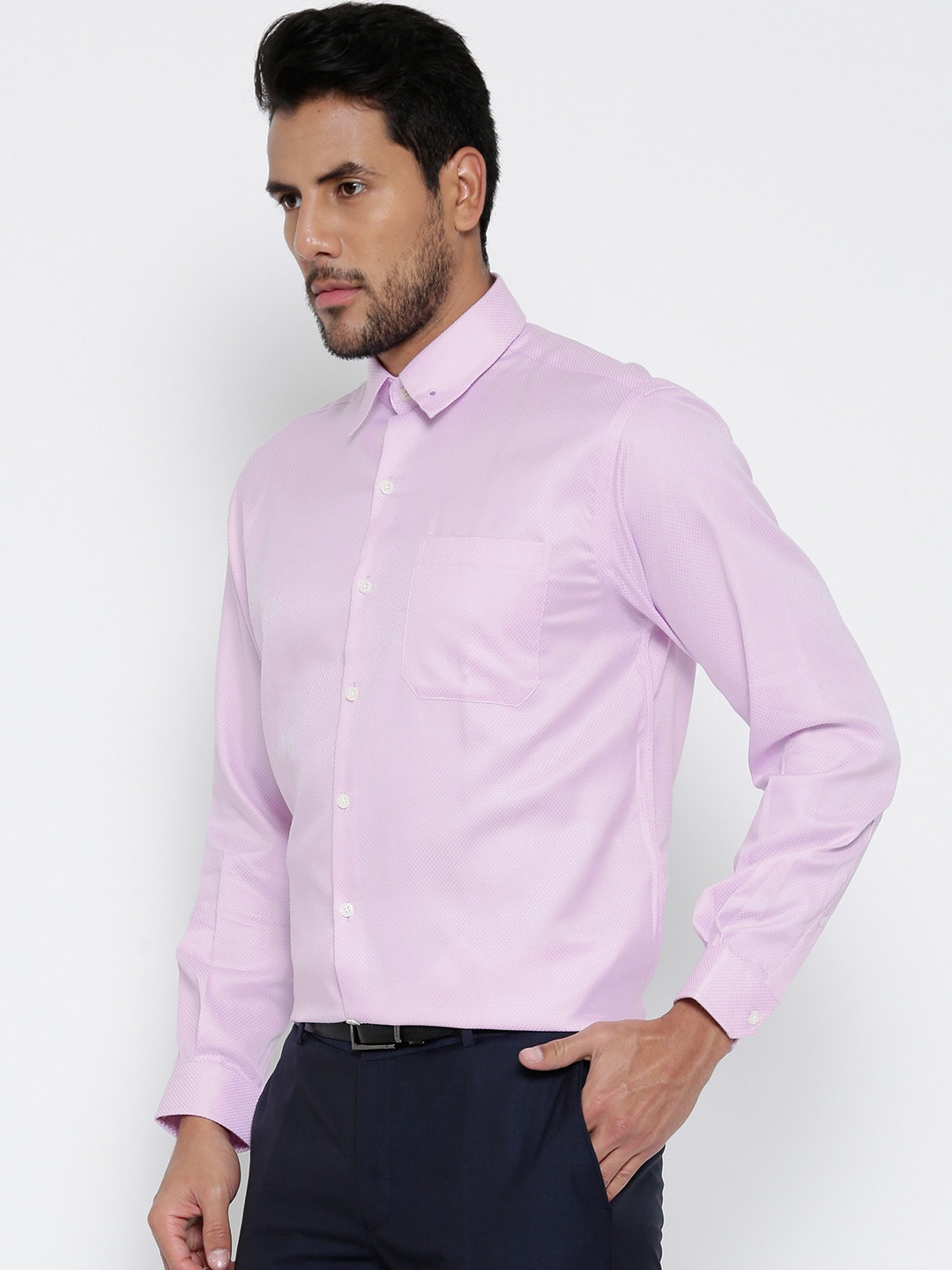 Men Light Pink Shirt - Buy Men Light Pink Shirt online in India