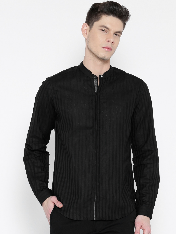 Black Linen Shirts - Buy Black Linen Shirts online in India