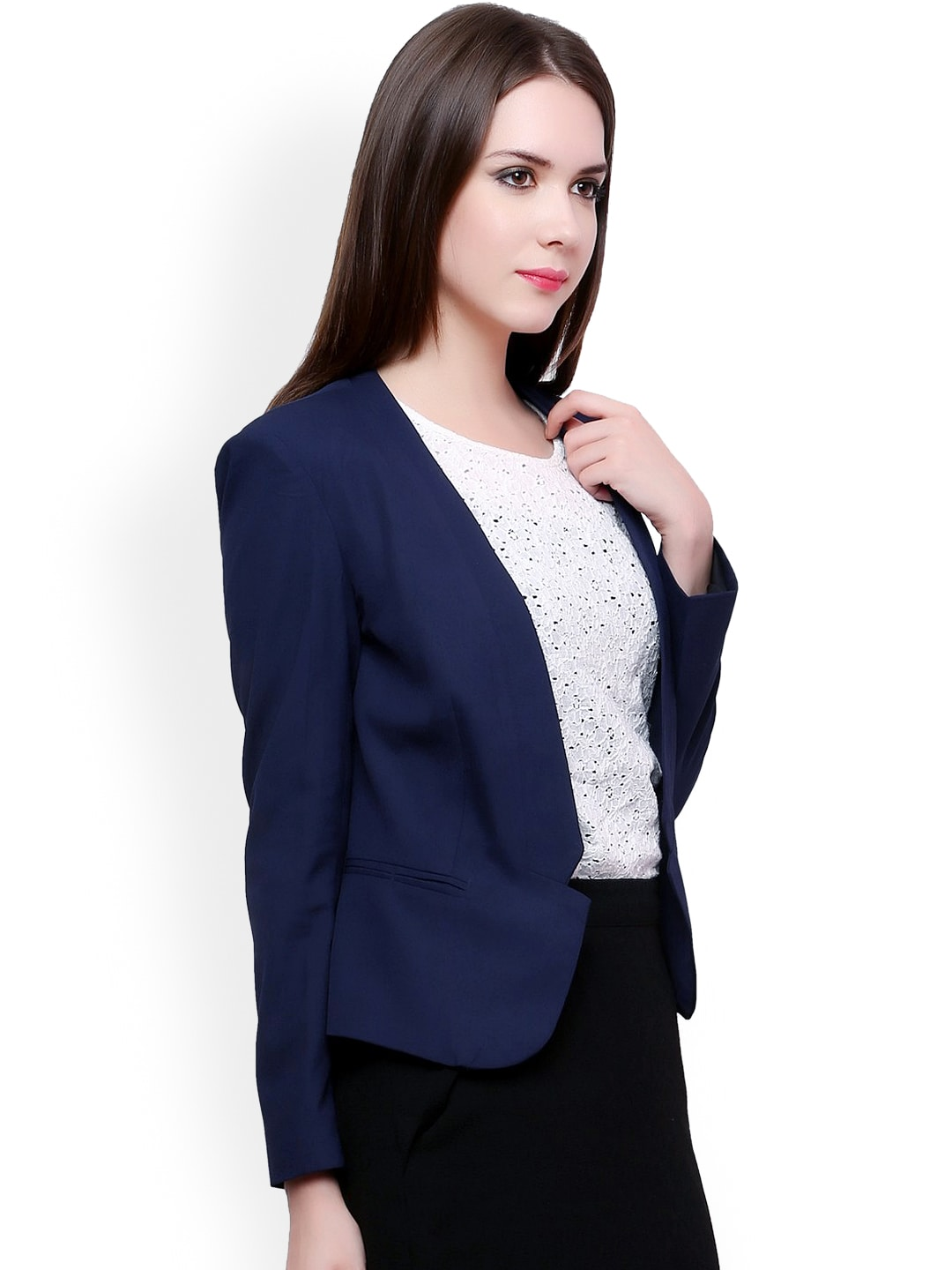 Pannkh Blue Tailored Fit Blazer
