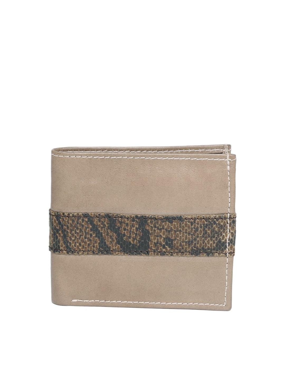 2221bdeeef BRUNE Men Taupe Leather Wallet