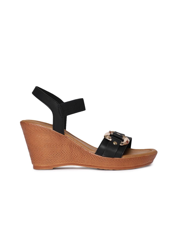 Inc 5 Women Black Solid Heels