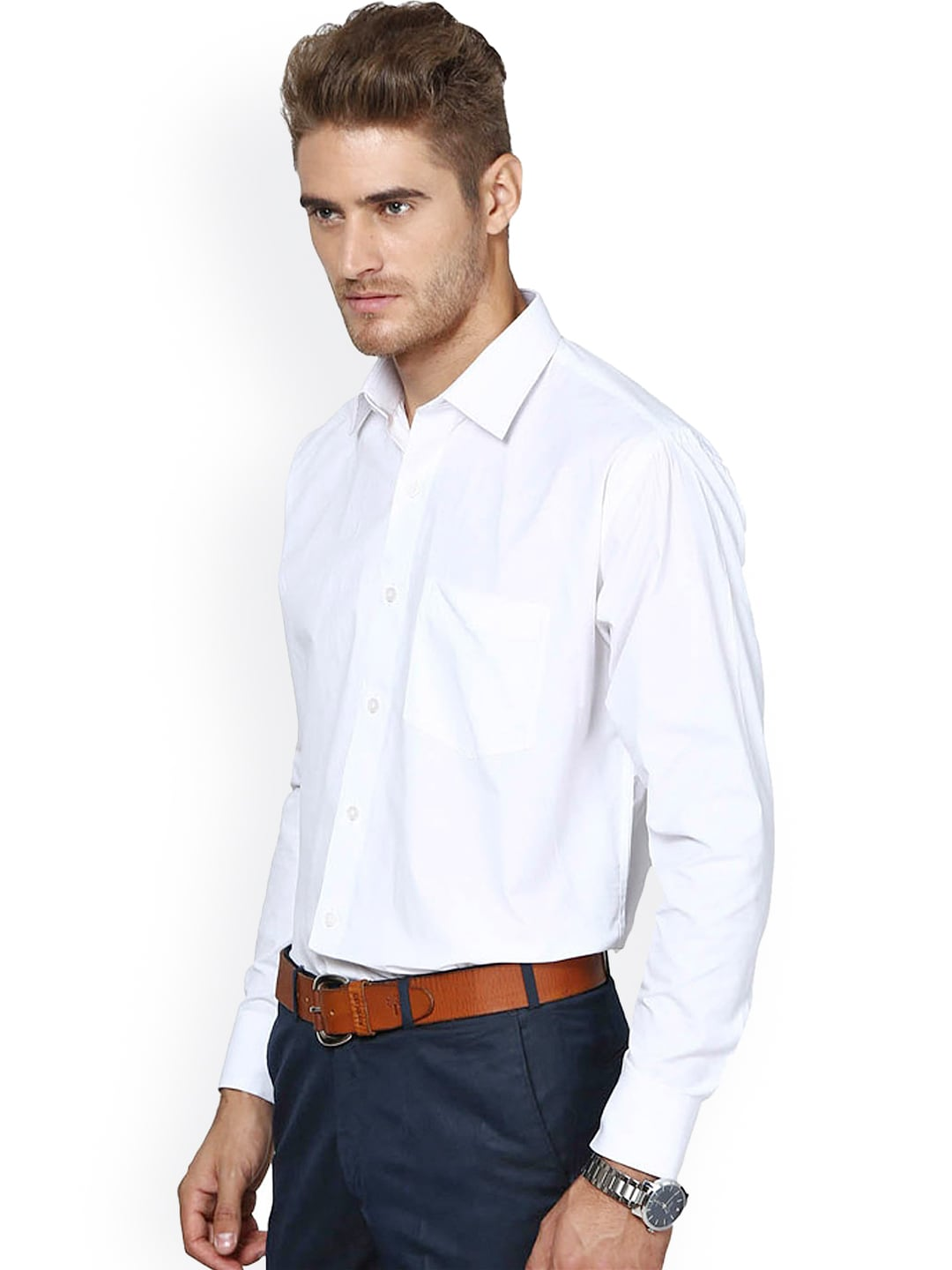 Male dress shirt images galleries for Mens formal white shirts
