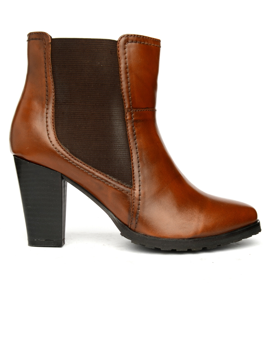 Bruno Manetti Women Brown Solid Heeled Boots
