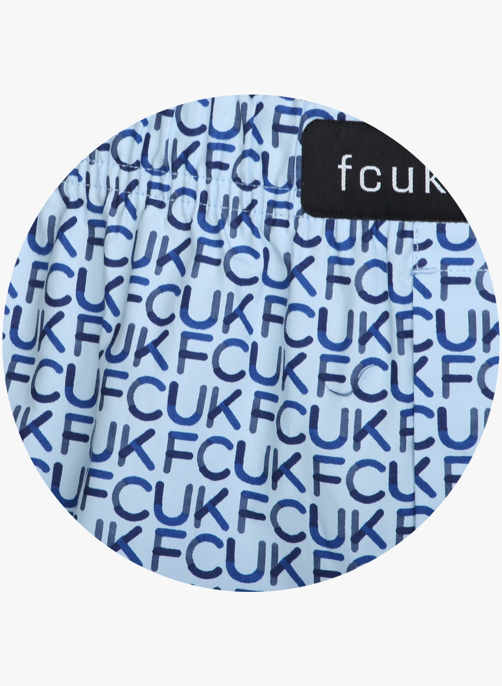 FCUK Underwear Blue Printed Boxers