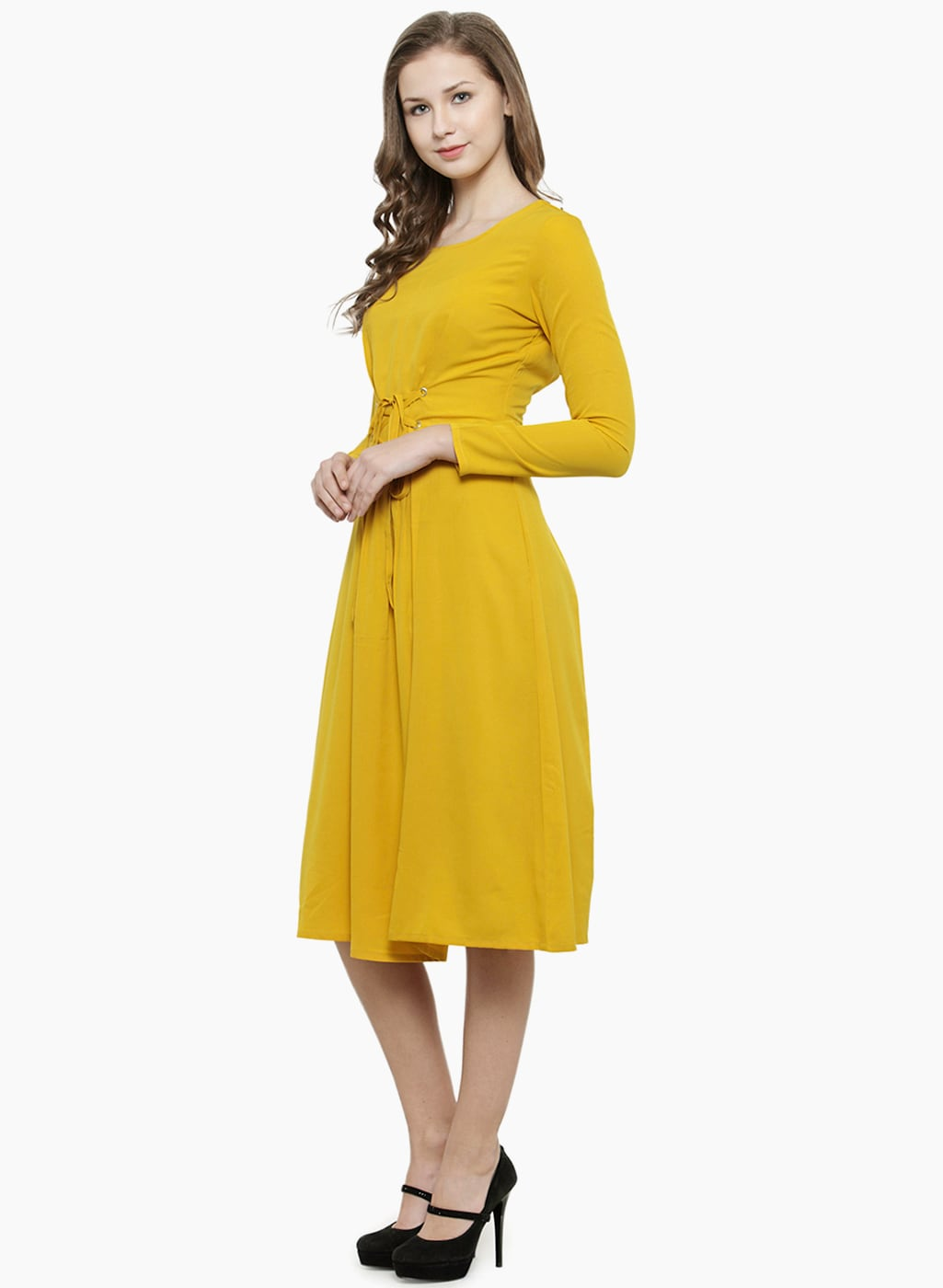 fe8297ada8 Yellow Off White Women Dresses Magnetic Designs - Buy Yellow Off White  Women Dresses Magnetic Designs online in India - Jabong