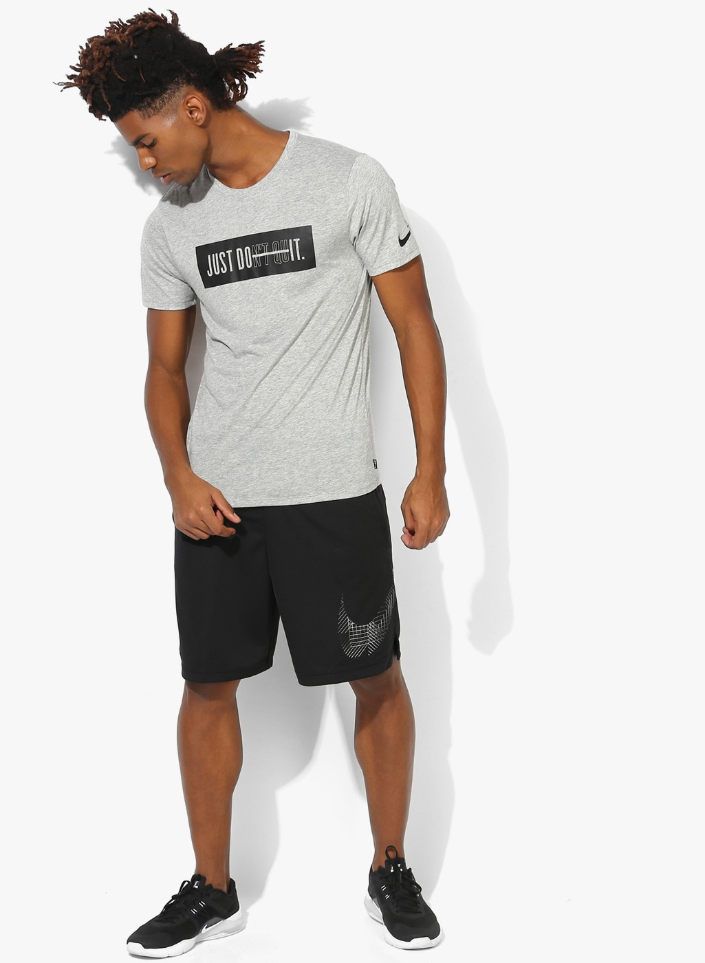 Nike Dry Db Don't Quit Training Dark Grey Round Neck T Shirt