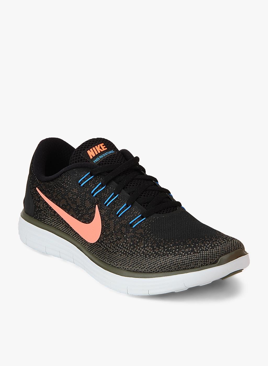Nike Free Rn Distance Black Running Shoes