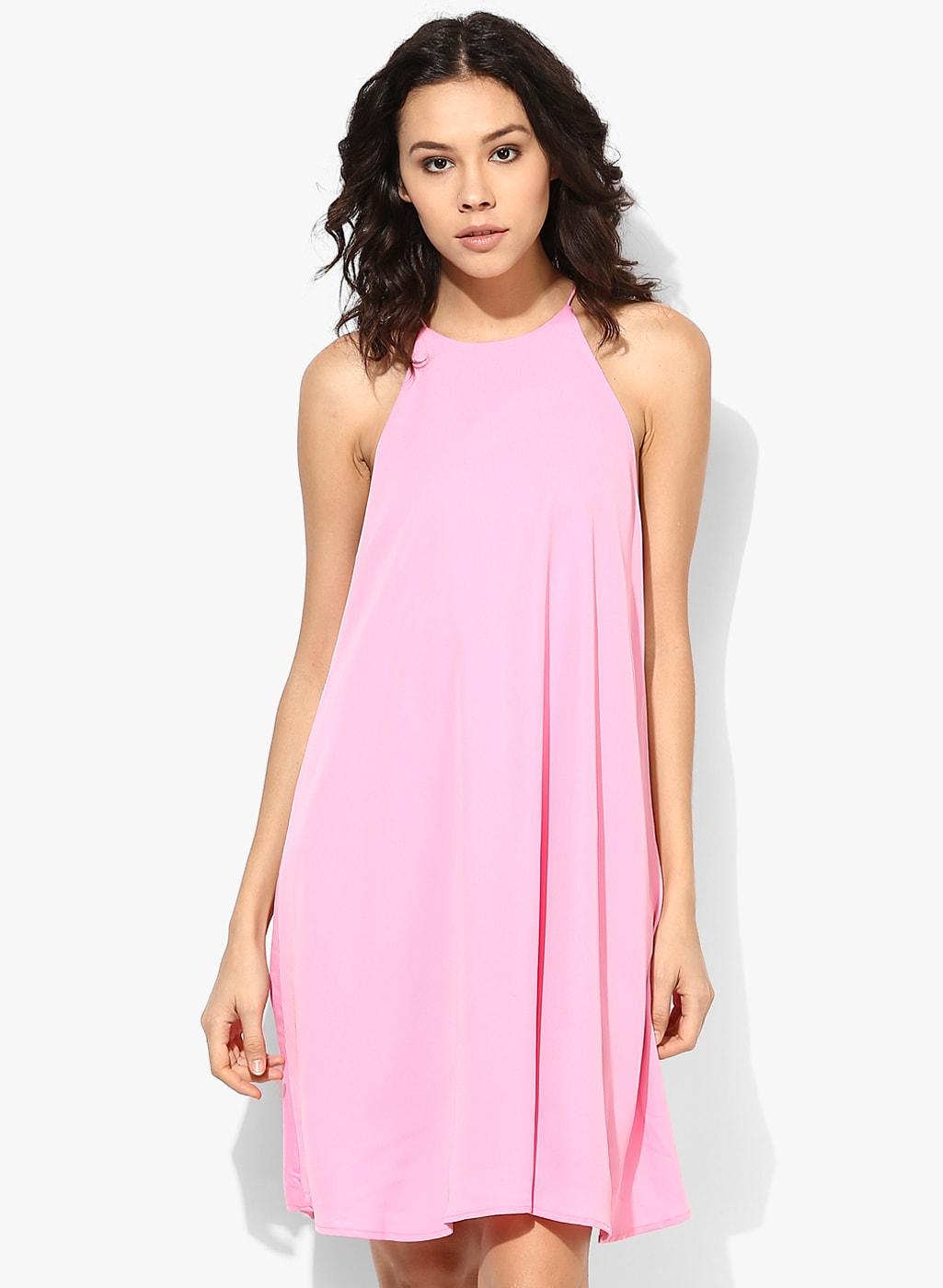 MANGO Halter Neck Dress