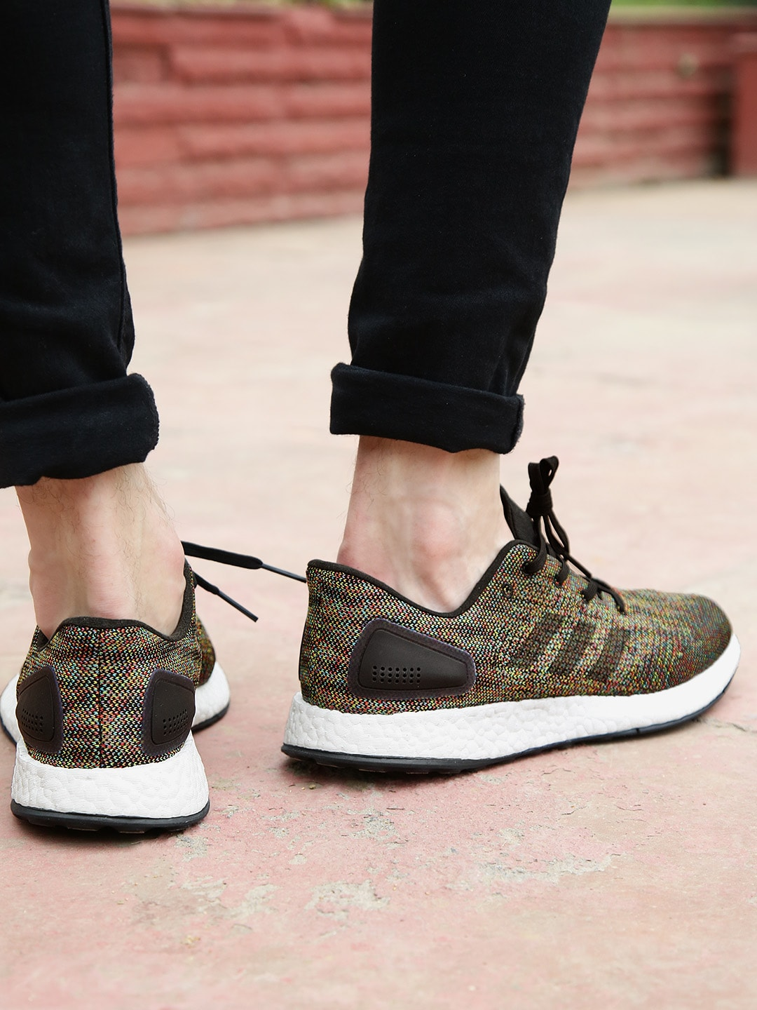 on feet shots of competitive price sneakers Buy ADIDAS Multicoloured Pureboost DPR LTD Running Shoes Online ...