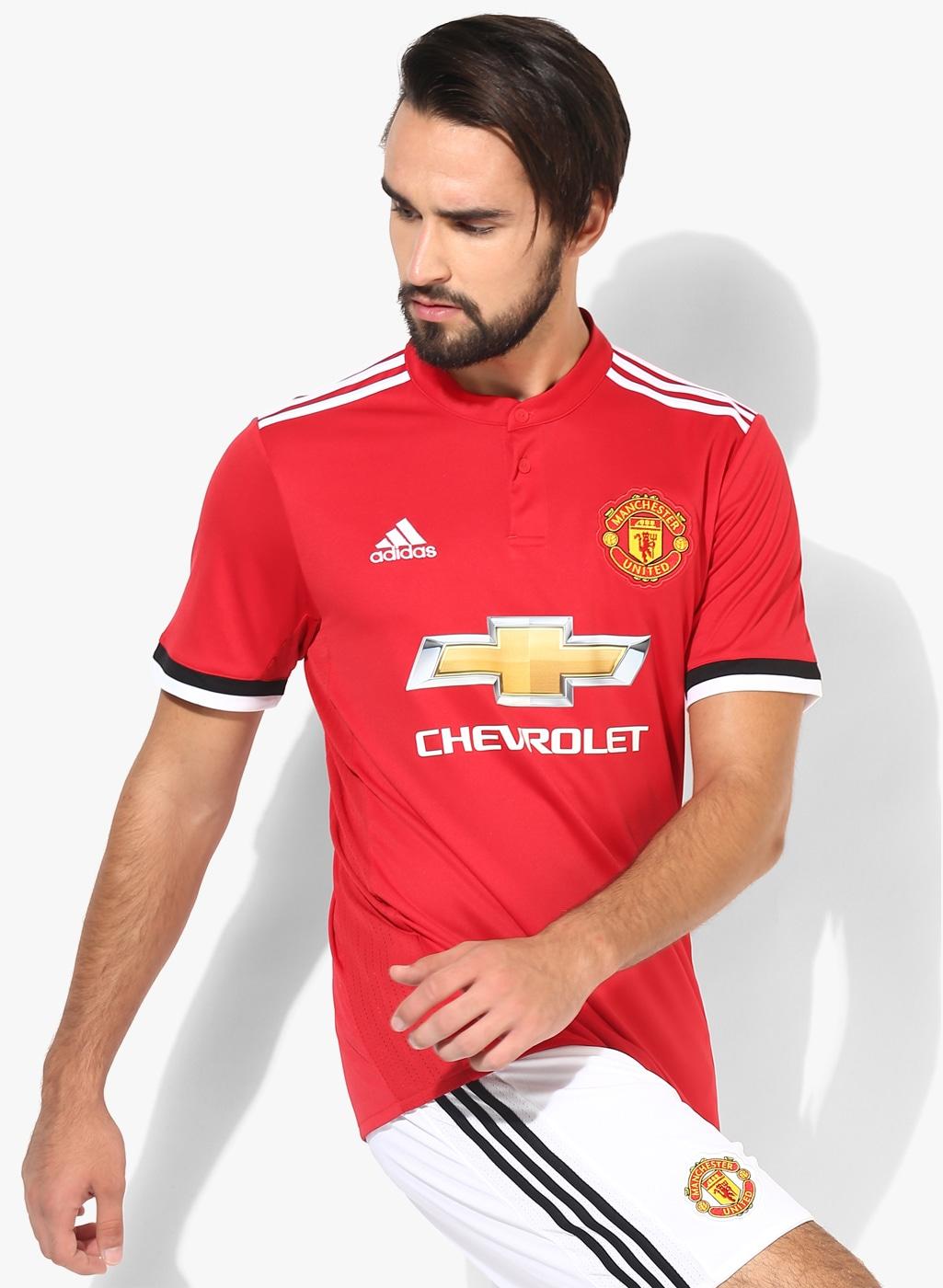 quality design 2e66e e6a11 Manchester United H Red Football Sports Jersey