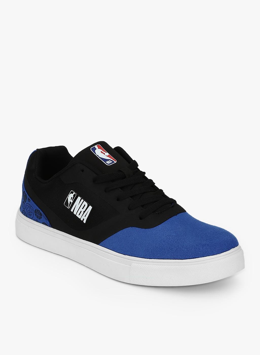 Black Blue Low Top Sneakers