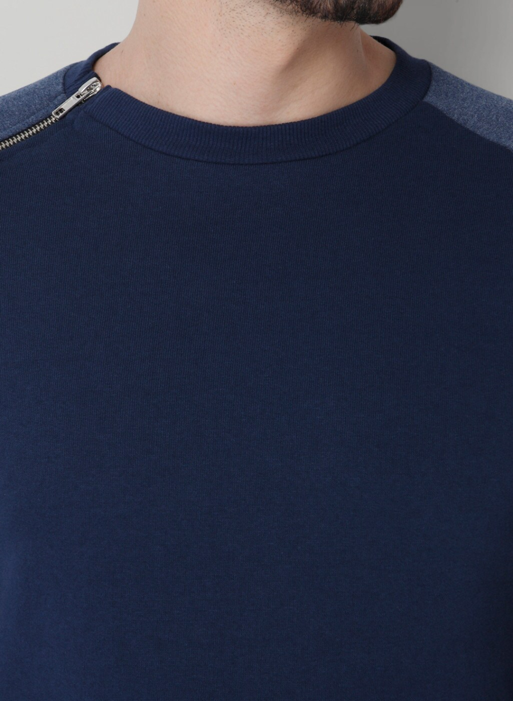 ONLY & SONS Navy Blue Solid Sweatshirt