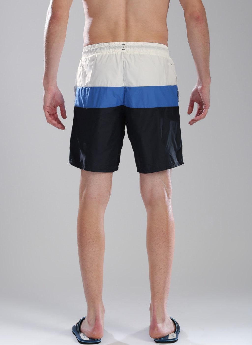 1aecd6f8 Kappa Navy Blue & White Colourblocked BLOK POOL Swim Shorts