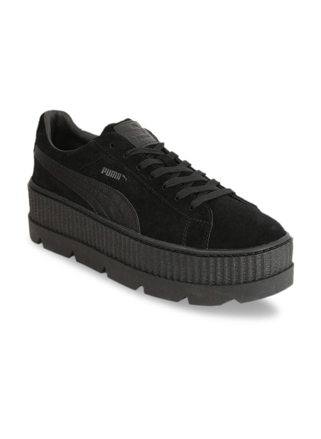 super popular 1de07 8d824 Puma Black Cleated Creeper Suede Sneakers