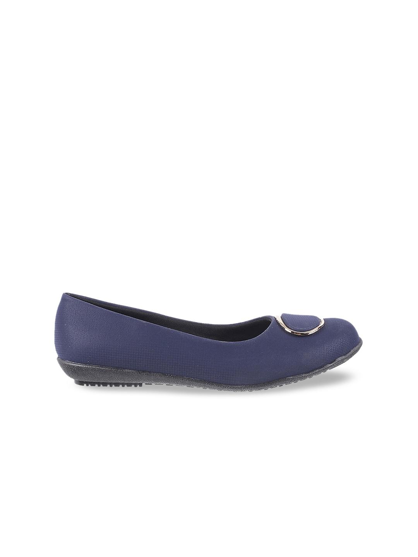 WALKWAY Women Blue Solid Ballerinas