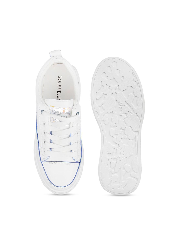 SOLE HEAD Women White Sneakers