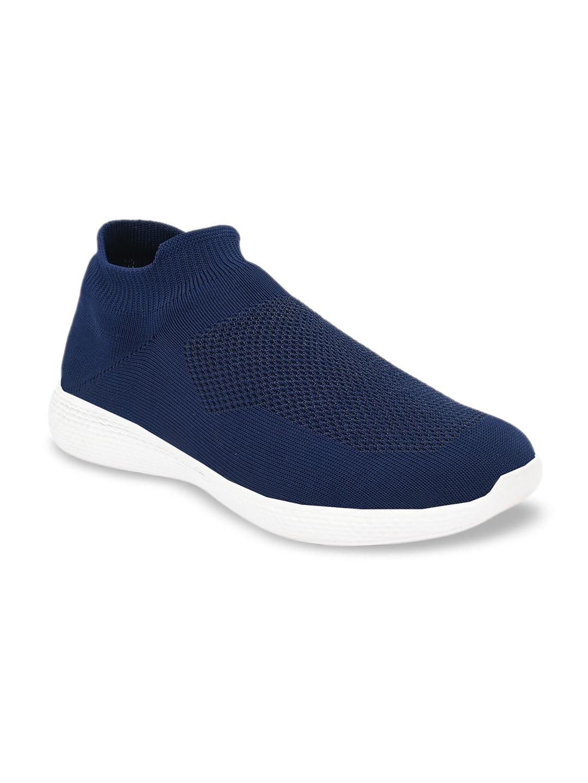 AfroJack Men Blue Slip-On Sneakers