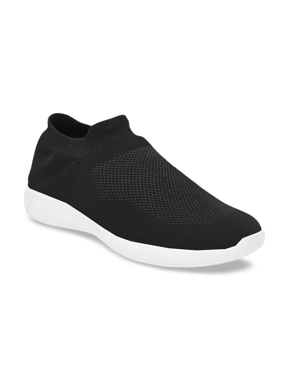 AfroJack Men Black Slip-On Sneakers