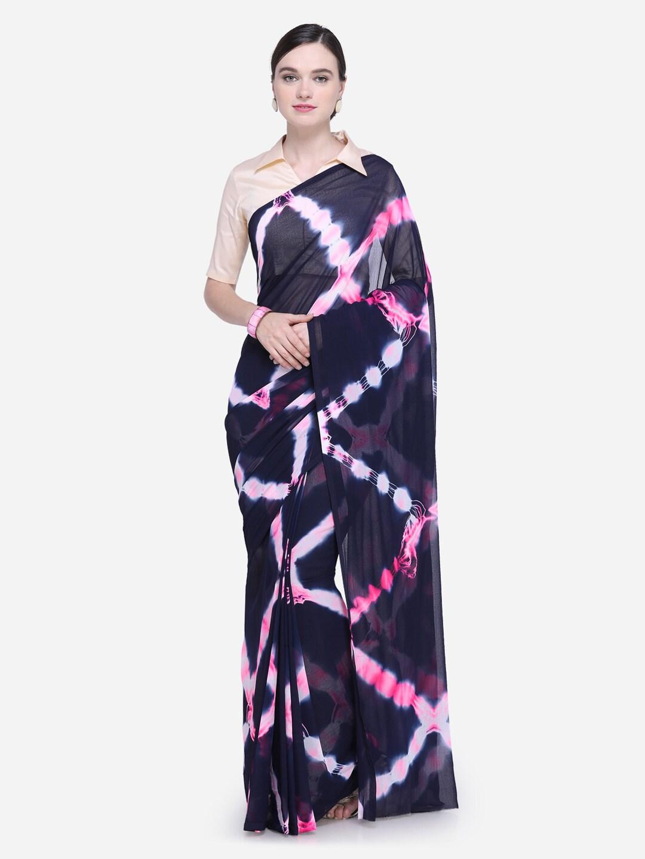 0dc54252706d Blue Sarees Sarees Blouse - Buy Blue Sarees Sarees Blouse online in India
