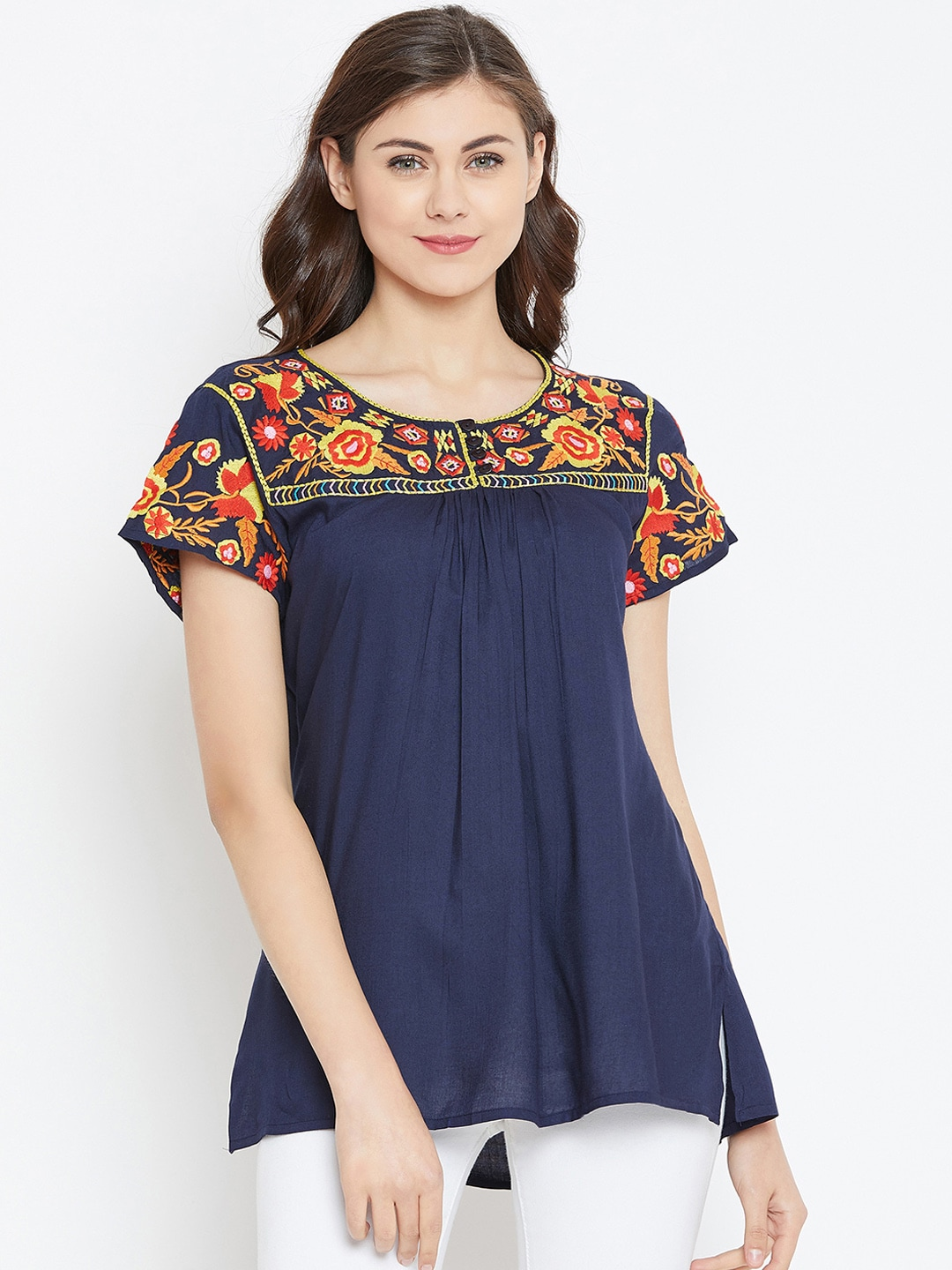 74e345e038 Floral Tops - Buy Floral Tops for Girls   Women Online