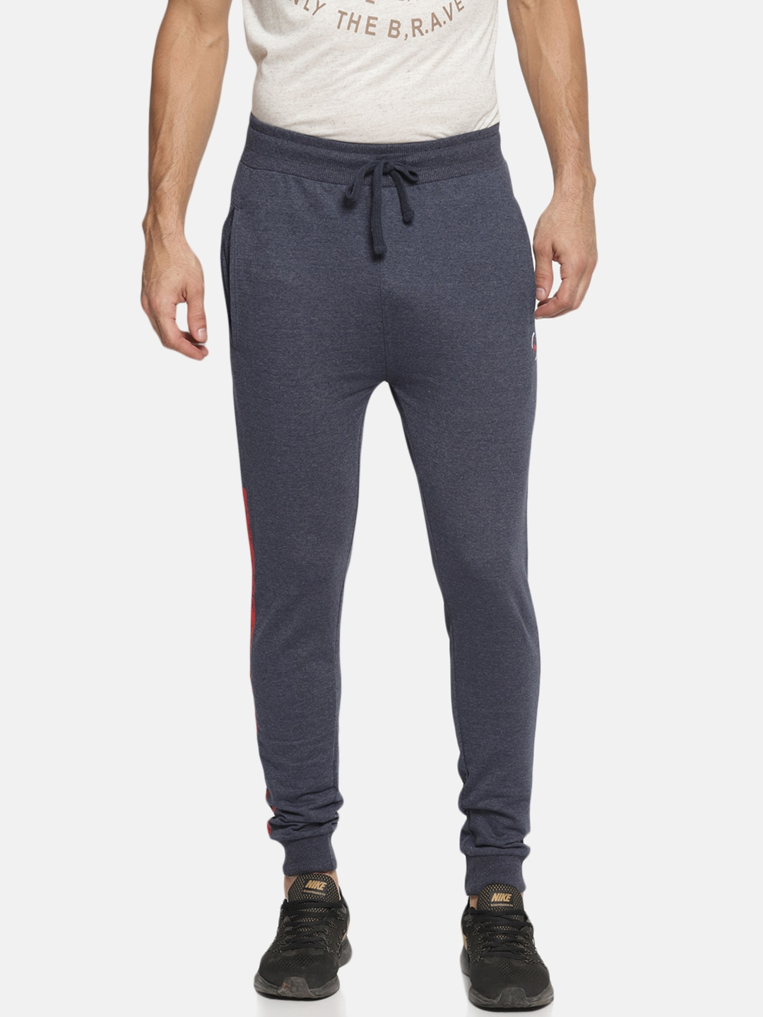 61d2a8ca79ddb4 Blue Track Pants - Buy Blue Track Pants Online in India