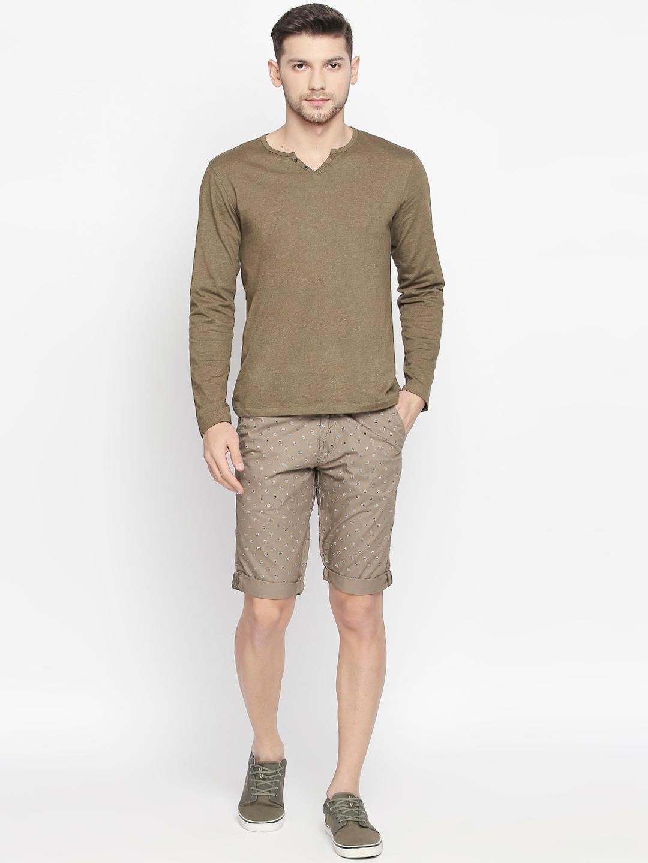 beevee Men Brown Printed Regular Fit Regular Shorts