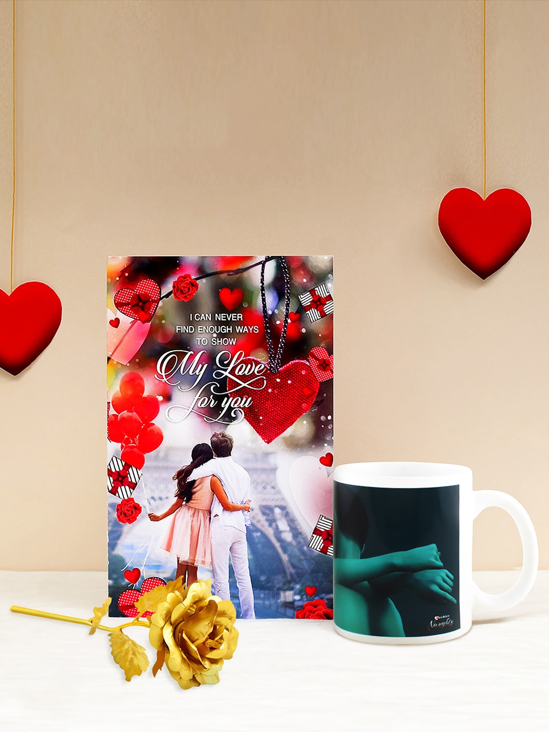 Archies Multicoloured Combo of Greeting Card, Mug & Greeting Card
