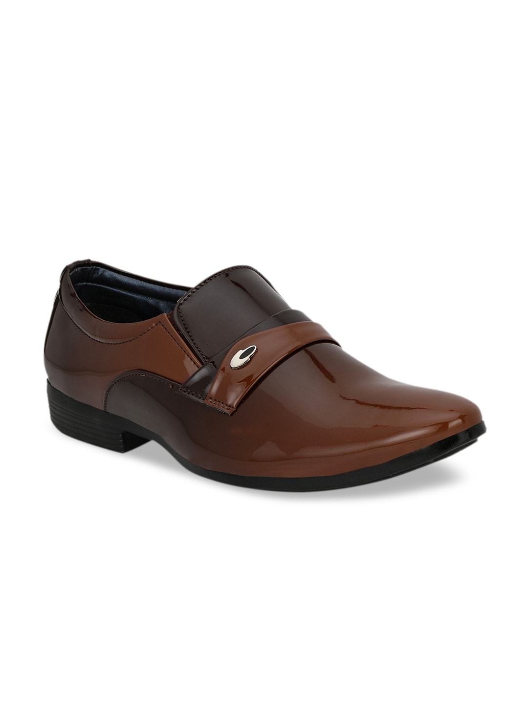 Ferraiolo Men Brown Formal Slip On