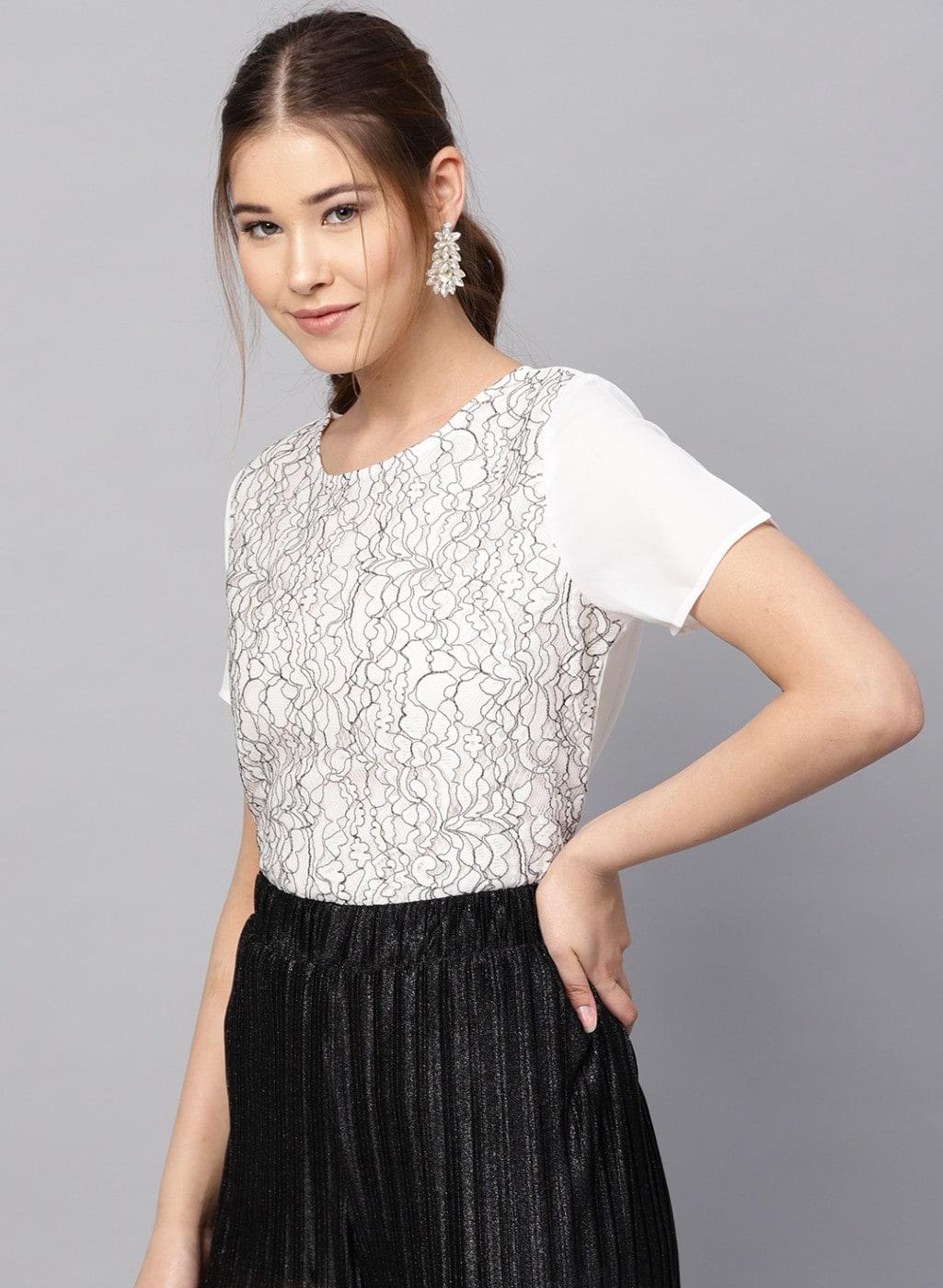 df10d4477e591a White Women Tops Kazo 20dresses - Buy White Women Tops Kazo 20dresses  online in India - Jabong