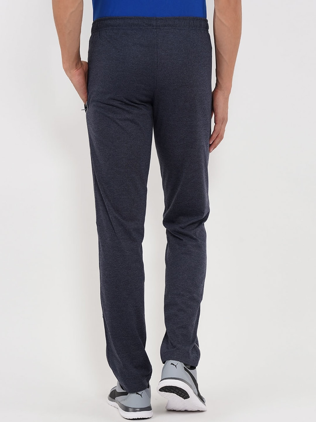Sweet Dreams Men Navy Blue Solid Straight-Fit Trackpants