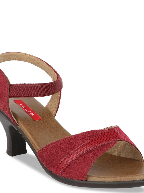 SOLES Women Maroon Printed Heels